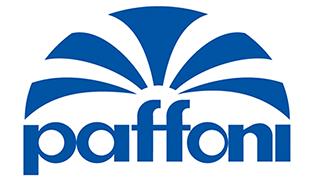 Logo aziendale di Paffoni produttore di vasche, docce, rubinetterie e articoli bagno