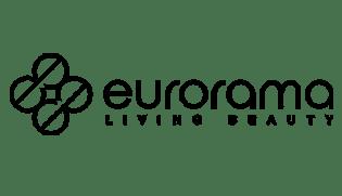 Logo aziendale di Eurorama produttore di vasche, docce, rubinetterie e articoli bagno