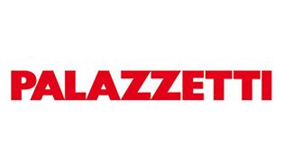Logo aziendale di Palazzetti produttori di stufe a pellet